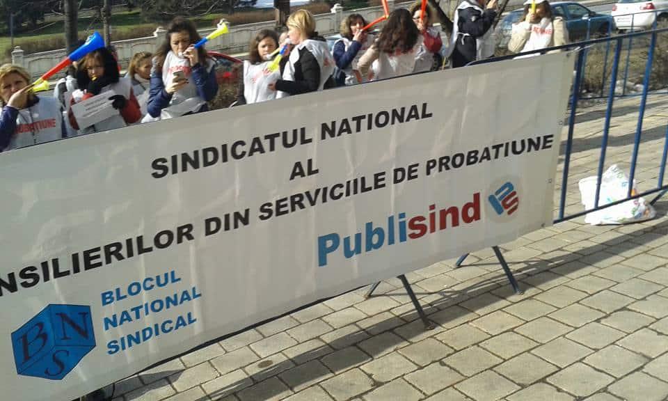 Sindicatul National al Consilierilor  din Serviciile de Probatiune, sindicat afiliat la Federatia PUBLISIND va protestat azi, 13.03.2017.