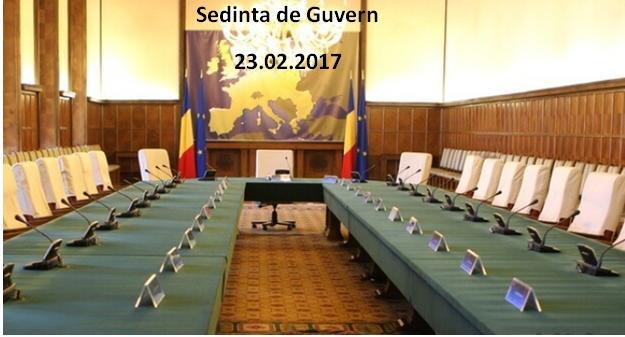 Acte normative adoptate in sedinta Guvernului Romaniei din 23.02.2017