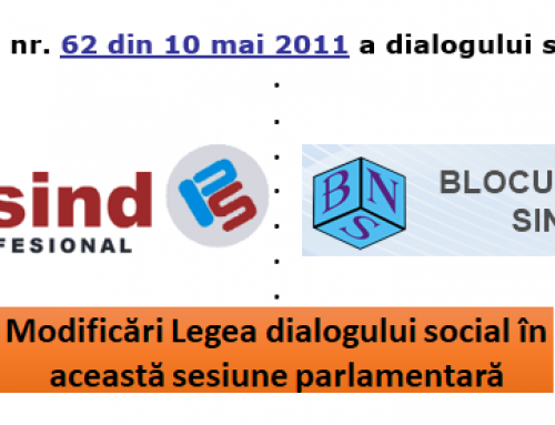 Legea dialogului social – modificări în această sesiune parlamentară