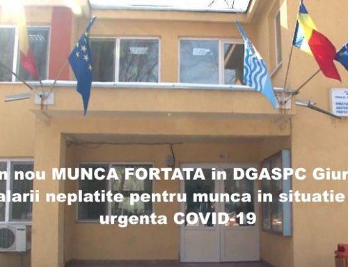 DGASPC Giurgiu – muncă non stop în stare de urgență și salarii neplătite