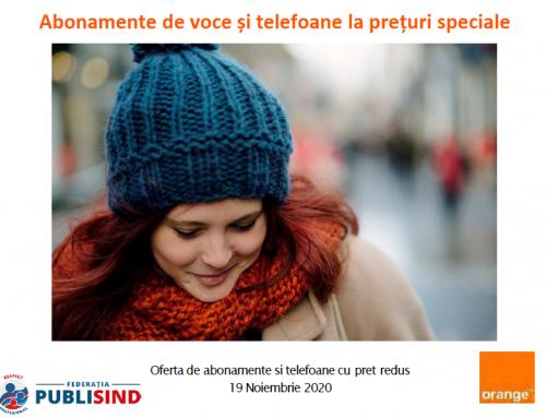 Orange: prețuri speciale pentru membrii Federației PUBLISIND, noiembrie 2020